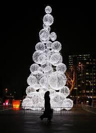 outdoor christmas tree growing on trees outdoor lighting ideas