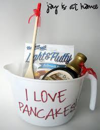 bridal shower door prize idea pancake lover basket measuring