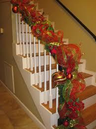 outstanding christmas staircase garland 138 christmas staircase