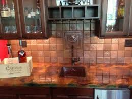 copper backsplash kitchen copper tile backsplash home tiles