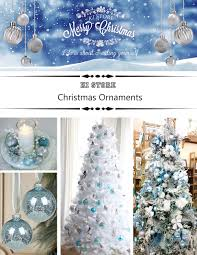 amazon com ki store 24ct christmas ball ornaments shatterproof