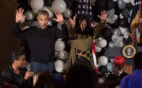 barack and michelle obama dance to thriller