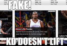 Okc Memes - nba memes on twitter kevin durant lifting the okc thunder nba