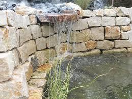 Steingarten Mit Granit Garten Wasserfall Trockenmauer Naturstein Gartenideen
