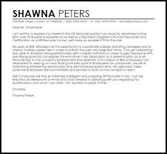 great cover letter examples for recruiter position 69 about