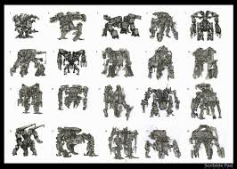 scribble pad studios concept art from lost planet 3 mech 1
