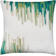 hand embroidered chain stitch pillows 18x18 ikat judy ross