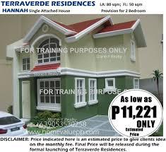 hannah house in terraverde residences u2013 house for sale in carmona
