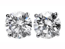 diamond ear studs stud earrings london brilliant cut diamond earstuds