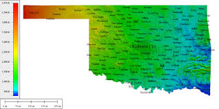 Map Of Oklahoma State by Topocreator Create And Print Your Own Color Shaded Relief
