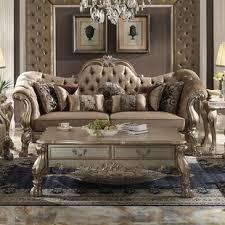 Gold Sofa Living Room Gold Wayfair