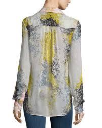 diane von furstenberg carter splatter print silk blouse