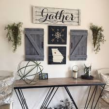 gather sign 5 piece set rustic gallery wall set rustic gather