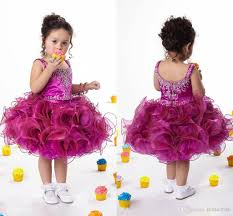 2015 new scoop purple red girls pageant dresses for little girls