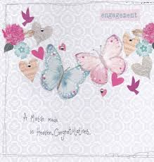 congratulations on engagement card a match made in heaven engagement card karenza paperie