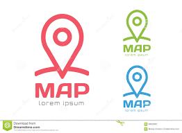 map logo map pin vector logo icon template travel logo stock vector