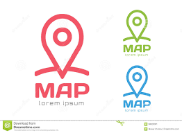Google Map Icons Map Pin Vector Logo Icon Template Travel Logo Illustration