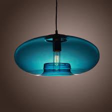 Retro Pendant Light Shades L Shades Design Blue Glass L Shades Style Kc Ls