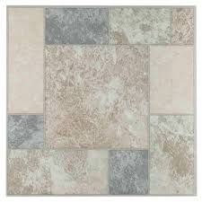 Groutable Vinyl Floor Tiles by Nexus Beige Clay Diamond With Accents 12x12 Self Adhesive Vinyl