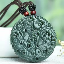 dragon jade necklace pendant images 100 natural green hetian jade pendant carved chinese dragon jpg