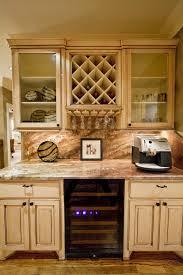 built in wine rack in kitchen cabinets kitchen design ideas