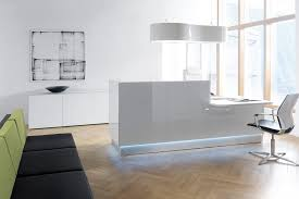 Buy Reception Desk by 100 Ideas High Gloss Office Desk On Vouum Com