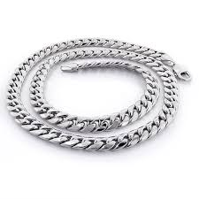 white gold link bracelet images White gold miami cuban link curb chain 10k 22 40in 9mm jpg