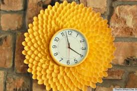 graceful clock as excellent home decor of fair diy project ideas
