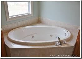Diy Tile Bathtub Add A Glass U0026 Stone Tile Border Sand And Sisal