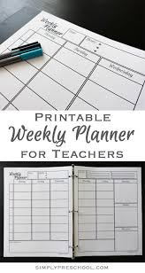 best 25 weekly lesson plan template ideas on pinterest teacher