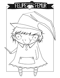 free runny the witch coloring sheet kids coloring
