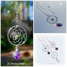 amethyst crystal necklace images Long amethyst dreamcatcher crystal necklace jg beads jpg