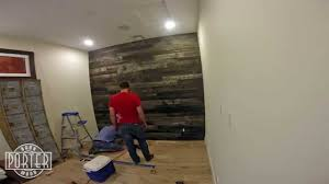 Laminate Wood Flooring On Wall Speckled Black Wood Wall Covering Install Youtube