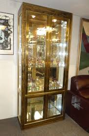 Lighted Display Cabinet Encore Furniture Gallery Mastercraft Etched Brass Lighted Curio
