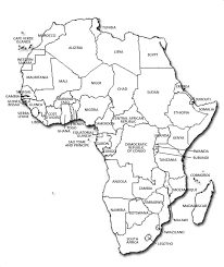 africa map labeled countries rainforests in africa