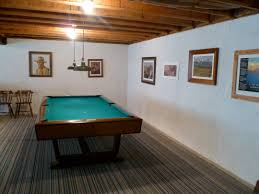 interior inspiring basement game room ideas with red pool table