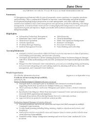 sle cv for information technology manager graph best blog writing services top ten list resume for mainframe