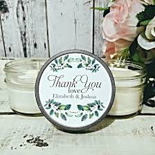 personalized candle favors candle wedding favor greenery wedding wedding favors