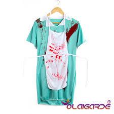 ladies zombie bloody nurse halloween horror fancy dress party