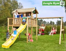 childrens jungle gym set plum muriqui wooden swing set with slide