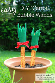 southern in law easy diy carrot bubble wands for easter