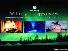 turn your xbox one into a fireplace snowy forest or beach front