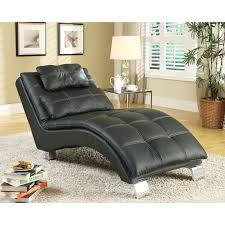 Upholstered Chaise Lounge Baxton Studio Pease Contemporary Faux Leather Upholstered Crystal