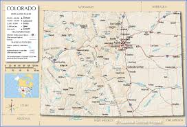 Colorado Mountain Map by Reference Map Of Colorado Usa Nations Online Project