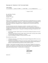 appealing sample cover letter project manager position 37 on cover