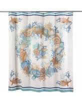 Seashell Shower Curtains Amazing Deal On Shower Curtains Palm Seashell Shower