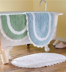 Oval Bath Rugs Unique White Blue And Green Oval Bath Rug For Classic Bathroom