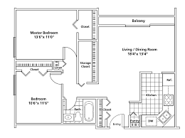 Two Bedroom Floor Plan by Cleveland Oh Apartment Hamilton House Floorplans