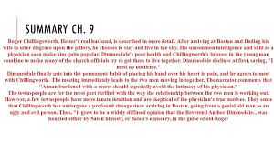 scarlet letter chapter 9 sparknotes resume cover letter template