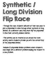 synthetic long division flip polynomial division tpt